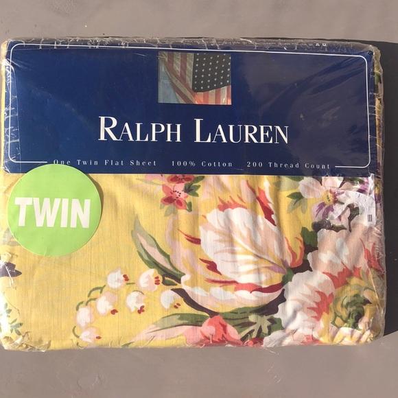 Ralph Lauren twin flat sheet